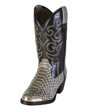 Smoky Mountain® Kids' Laramie Python Print Boots - Youth