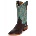 Anderson Bean Horse Power® Men's Elephant Print Turquoise Top Boots