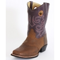 Smoky Mountain® Kids' Brown Purple Western Boots - Child