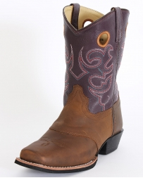 Smoky Mountain® Kids' Brown Purple Western Boots - Youth