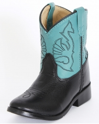 Smoky Mountain® Kids' Black Turquoise Shaft Boots - Toddler