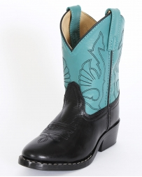 Smoky Mountain® Kids' Black Turquoise Shaft Boots - Child