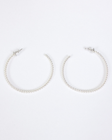 Vogt® Twisted Rope Hoop Earrings