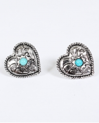 Vogt® Heart Turquoise Cabochon Earrings
