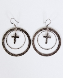 Vogt® Hoop Cross Dangle Earrings