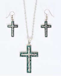 Vogt® Inlayed Turquoise Cross Set