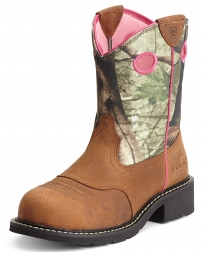 Ariat® Ladies' Fatbaby Camo Steel Toe Boots
