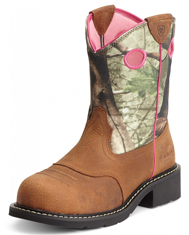 Ariat® Ladies' Fatbaby Camo Steel Toe Boots - Fort Brands