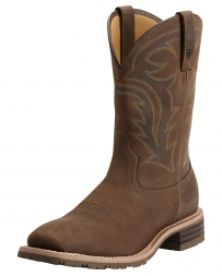 Ariat® Men's Hybrid Rancher H20 Oily Dist Brown Work Boots
