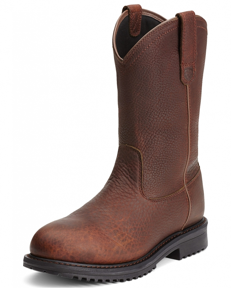 ariat 174 s rigtek pull on composite toe boots fort brands