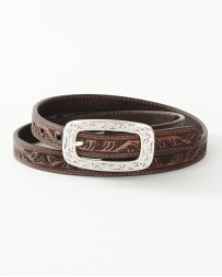 Ariat® Ladies' Tooled Brown Belt