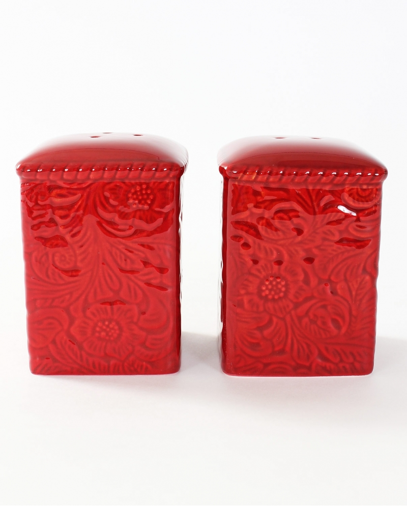 Savannah Red Salt Pepper Shaker Set Fort Brands