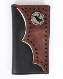 3D® Boys' Tan Distressed Leather Overlay Rodeo Wallet
