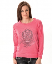 Cowgirl Tuff® Ladies' Long Sleeve Skull Top