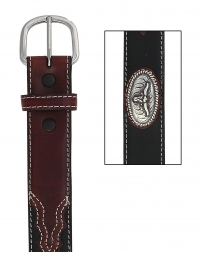 Boys' Black And Brown Longhorn Belt