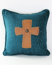 HiEnd Accents® Leopard With Cross Pillow