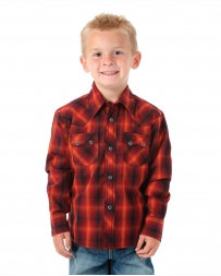 Wrangler® Boy's Tyler Snap Long Sleeve Shirt