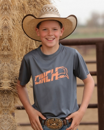 Cinch® Boys' Short Sleeve Athletic Tee