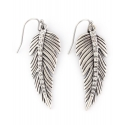 Rock 47® Collection by Montana Silversmiths® Ladies' Rhinestone Feather Earrings