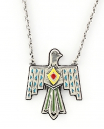 Rock 47® Collection by Montana Silversmiths® Tribal Flair Painted Thunderbird Necklace