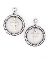 Rock 47® Collection by Montana Silversmiths® Rocks And Roll Rhinestone Halo Earrings