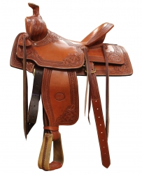 "Billy Cook Saddlery® Sulphur, OK Bc Nebraska Rancher Sq Skirt Saddle - 16"" Seat"