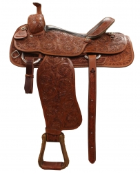 "Alamo Saddlery® Alamo Combo Full Tooled Saddle - 16"" Seat"