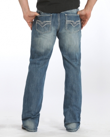 Rock & Roll Cowboy® Men's Double Barrel Relaxed Fit Bootcut Jeans