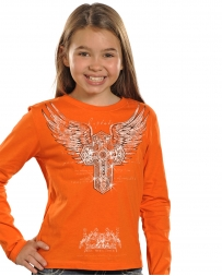 Rock & Roll Cowgirl® Girls' Cross And Wings Tee