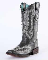 Corral Boots® Ladies' Metallic Silver Stud Boots