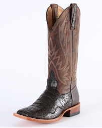 Horse Power© by Anderson Bean® Men's Chocolate Caiman Bone Top Boots