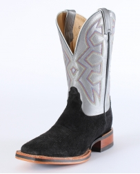 Nocona® Men's Black Sueded Hippo Print Boots