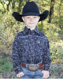 Cowboy Hardware® Boys' Range Long Sleeve Paisley Shirt