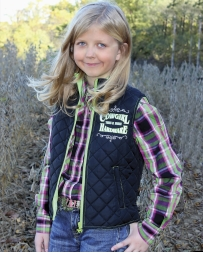 Cowboy Hardware® Girls' Turn & Burn Quilted Vest