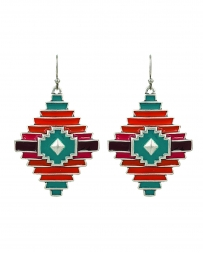Rock 47® Collection by Montana Silversmiths® Ladies' Point Of Aztec Earring