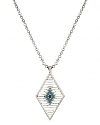 Rock 47® Collection by Montana Silversmiths® Ladies' Aztec Diamond Necklace