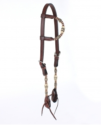 Top Hand Tack® Slip Ear Headstall With Rawhide Braid