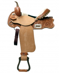 "Alamo Saddlery® Golden Barrel Racer Saddle - 14"" Seat"