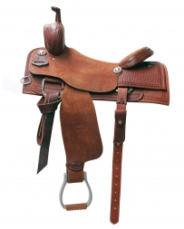 "Courts Saddlery® Courts TC Custom Cutter Saddle - 17"" Seat"