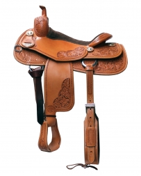 "Bob's Custom Saddles® Bob's AL Dunning Cowhorse Saddle - 16"" Seat"