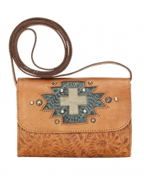 American West® Ladies' Gameday Golden Tan Crossbody Bag