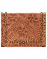 American West® Ladies' Golden Tan Tri-fold Wallet