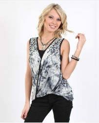 Vocal® Ladies' Twist Criss Cross Top