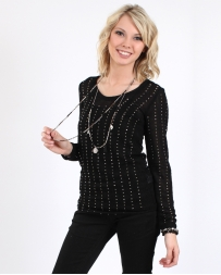 Vocal® Ladies' Long Sleeve Top With Stones
