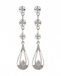 Montana Silversmiths® Ladies' Star Lights Three Tiered Raindrop Earrings