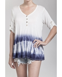 Blu Pepper® Ladies' Tye Dye Knit Top