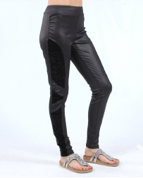 Vocal® Ladies' Black Velvet Leggings