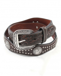 Ariat® Men's Scallop Concho & Studded Belt