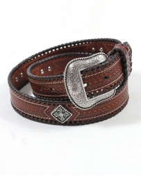 Nocona Belt Co.® Men's Basket Weave Diamond Concho Belt