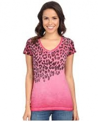 Rock & Roll Cowgirl® Ladies' Leopard V-Neck Top